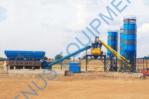 stationary concrete batching plant venus equipments