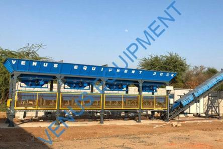stationary concrete batching plant venus equipments
